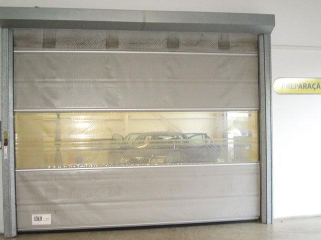 Portas Rápidas Industriais em PVC